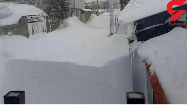 فیلم و عکس / خلخال زیر برف دفن شد !