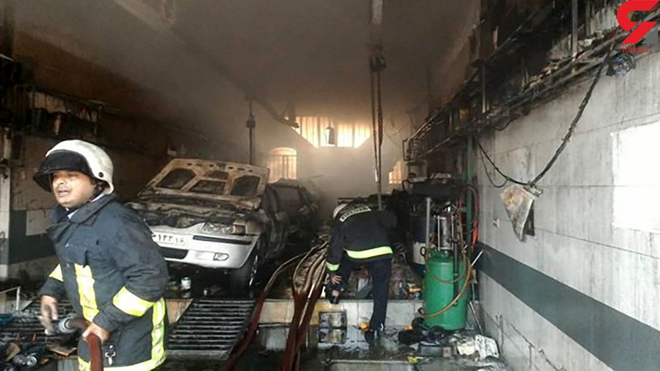 آتشسوزی در کارگاه تعمیر خودرو/ در قم رخ داد