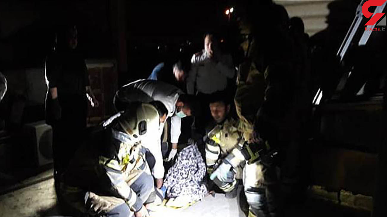 سقوط زن جوان تهرانی از  ارتفاع 11 متری / معجزه نجات در بامداد امروز + عکس