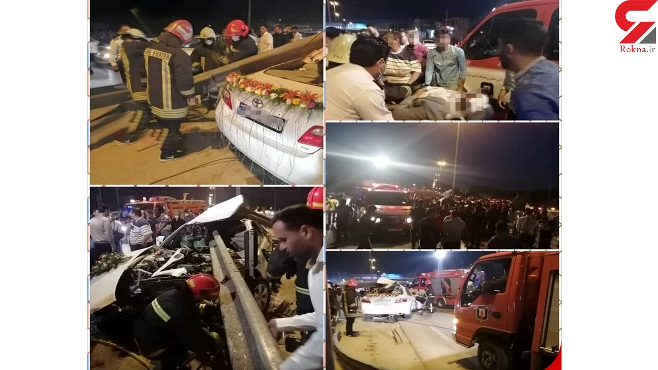 عروس و داماد شیرازی به جای حجله به بیمارستان رفتند / خون همه جا را فراگرفته بود + عکس