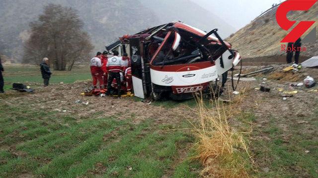 اعلام اسامی ۲ نفر از جانباختگان واژگونی مرگبار اتوبوس «مشهد _ بندرعباس» در بردسیر کرمان