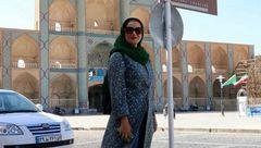 پرسهگردی خانم بازیگر در یزد +عکس
