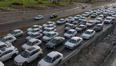 ترافیک سنگین در محور آمل- تهران