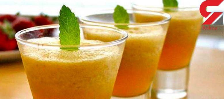 معجون انبه و چای سبز نوشیدنی برای فصل گرم+دستور تهیه
