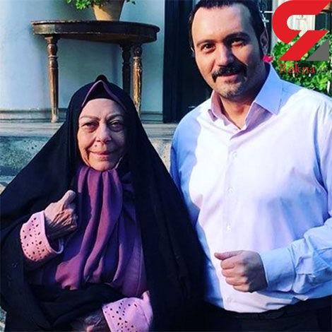 کامبیز دیرباز در کنار ثریای سینمای ایران