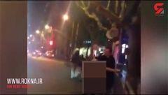 بی آبروی بزرگی که یک زن جوان در خیابان به وجود آورد! + فیلم لحظه دستگیری