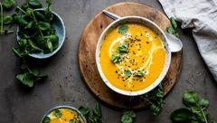 سوپ هویج و زنجبیل غذایی سالم و خوش عطر و بو+ دستور تهیه