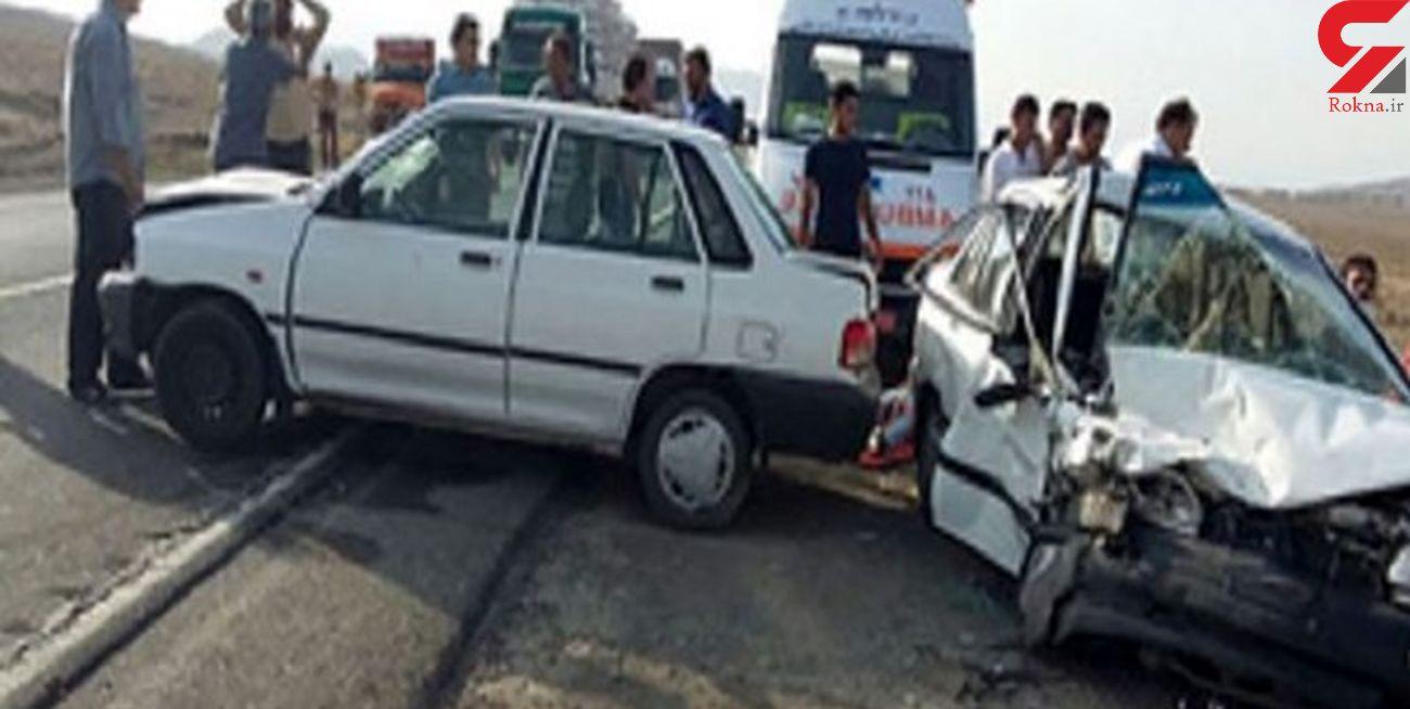 9 مصدوم در تصادف سه دستگاه پراید در یاسوج/حال مصدومین مساعد است