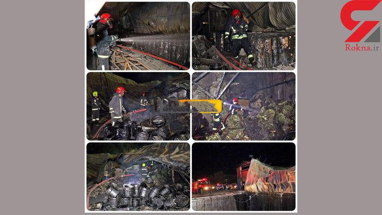 آتش سوزی کارخانه تولید ایزوگام مشهد
