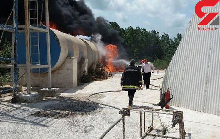 مهار انفجار تانکر ۱۵۰ هزارلیتری گازوییل/ ۶ آتش نشان مصدوم شدند