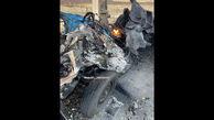 عکسی از نیسان انتحاری ترور شهید محسن فخریزاده
