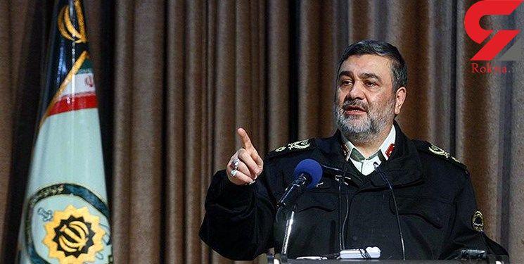 فرمانده ناجا: کشف حجاب جرم است و با خودروهای متخلف برخورد می شود