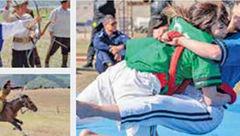 مسابقه ای زنانه در قرقیزستان + عکس