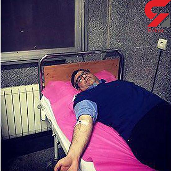 تصویر مجری معروف روی تخت بیمارستان