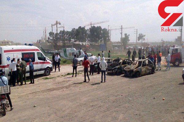 اعزام یک بالگرد و ۳ آمبولانس به محل حادثه تصادف تهران ساوه