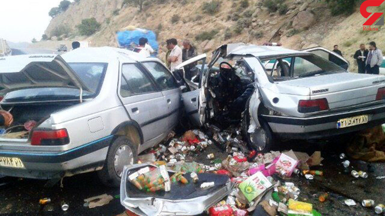عکس / تصادف در مهریز یک کشته و هشت زخمی برجا گذاشت