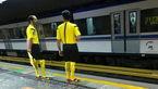 حرکت عجیب ماموران مترو در تهران + عکس