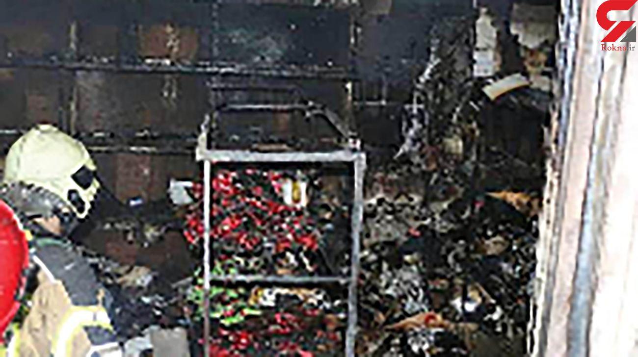 نجات جان زن تهرانی و فرزندانش از میان زبانه های آتش / پیتزافروشی آتش گرفت