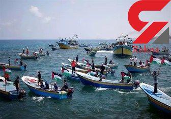 ۲۹زخمی در حمله رژیم صهیونیستی به راهپیمایی دریایی فلسطینیها