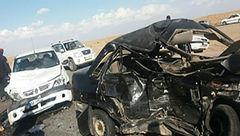 تصادف زنجیرهای در محور کرمانشاه