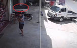 فیلم عجیب از حرکت کامیون بدون راننده ! + فیلم