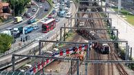 خروج قطار از روی ریل در هنگ کنگ+عکس