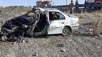 تصادف وحشتناک سمند با نیسان در اردبیل