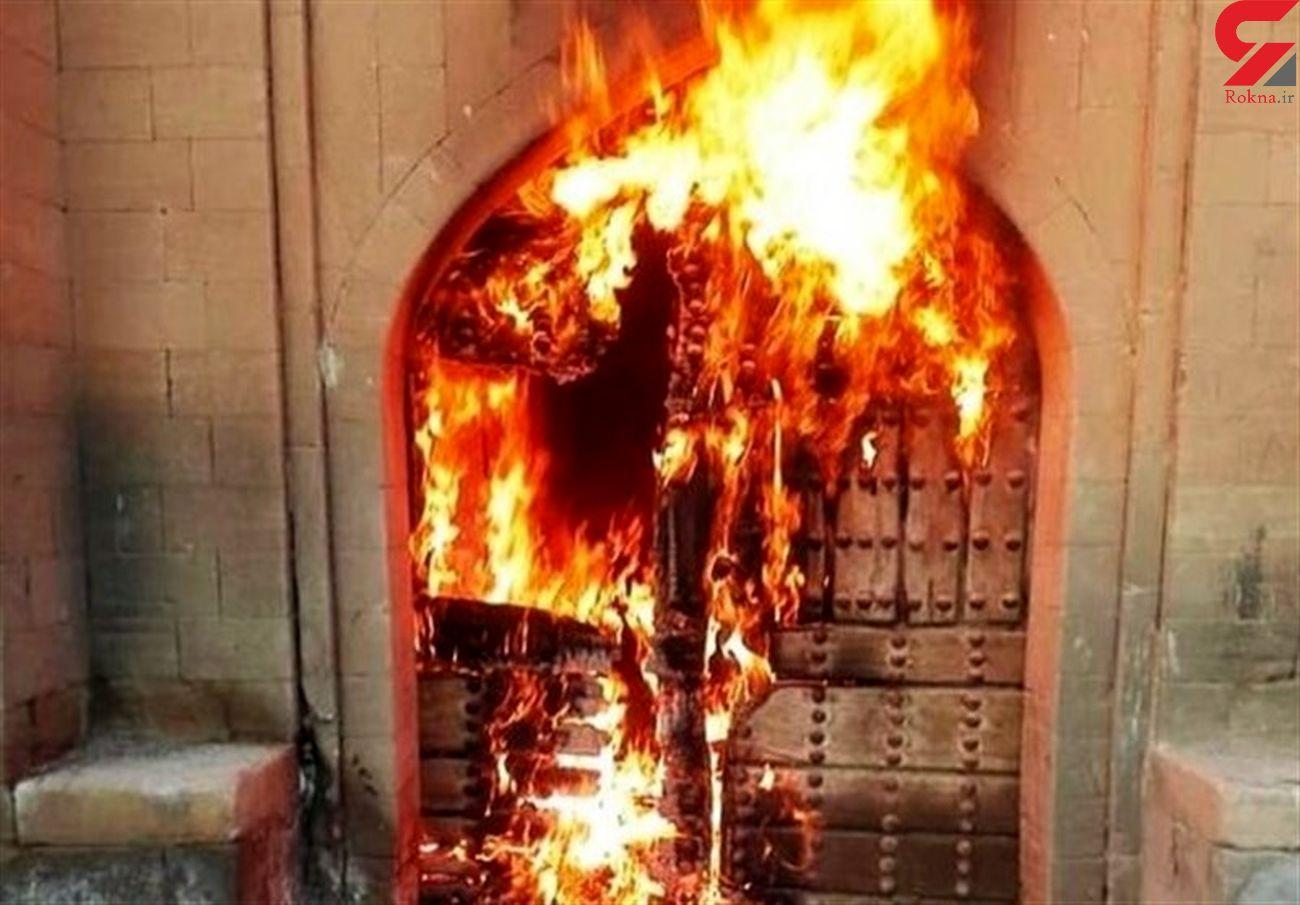نابودی اثر تاریخی توسط افراد ناشناس در خوزستان + عکس