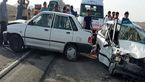 تصادف هولناک 4 خودرو در مهریز