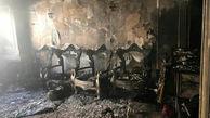 خانه ای لاکچری در شیراز جزغاله شد +تصاویر