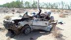 انحراف به چپ مرگبار پژو در محور نیکشهر-چابهار + عکس