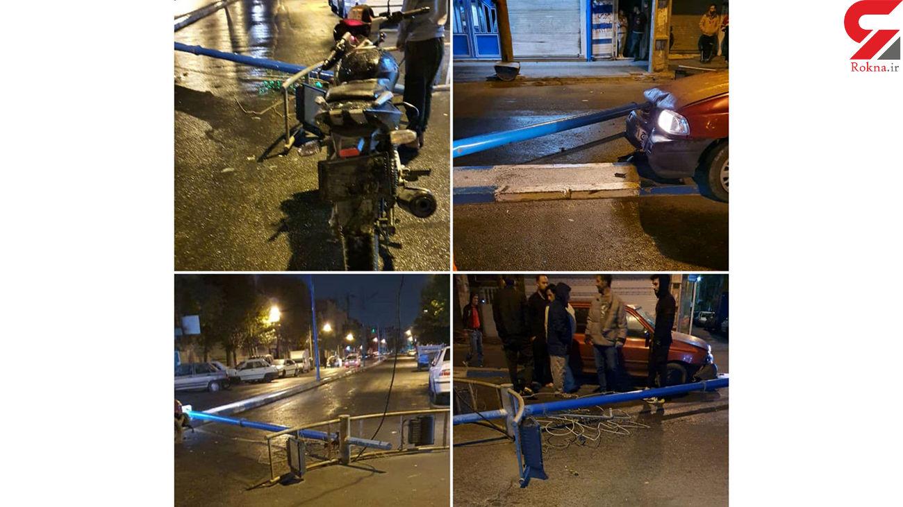 تصادف دزدان بدشانس با یک چراغ برق/ در گلستان تهران رخ داد