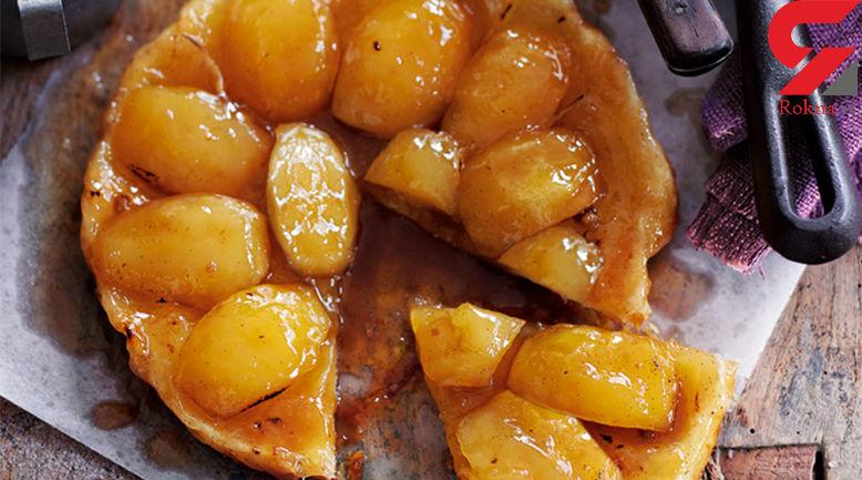 متفاوت ترین تارت سیب خانگی+دستور تهیه