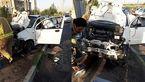 واژگونی خودرو در بزرگراه آزادگان تهران +عکس