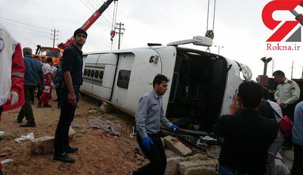 راننده اتوبوس مرگ در مرودشت چرا استراحت نکرد؟ + عکس