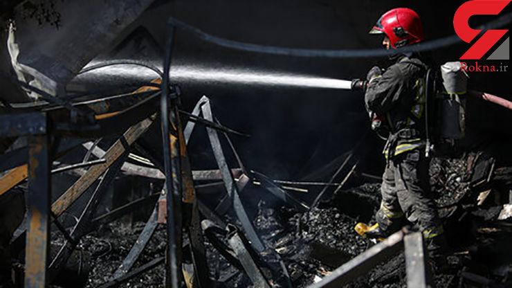 آتش سوزی در یک باغ ویلای مجهز در فریمان