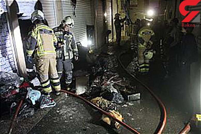 آتش سوزی شبانه در بازار تهران / محبوسان در آتش نجات یافتند