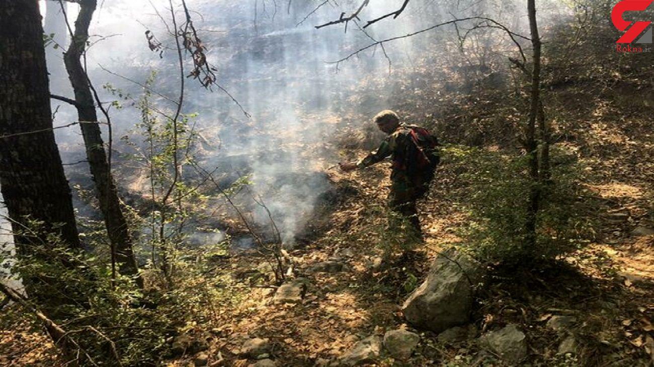 آتش در گلستان زبانه می کشد / آتش سوزی جنگل ها در گالیکش + فیلم
