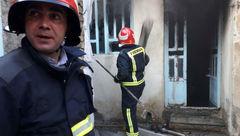 نجات جان مرد گرفتار شده در میان شعله ها توسط دریا دلان آتش نشان