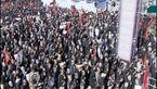 حضور پرشور تهرانیها در مراسم تشییع پیکر شهید حججی + فیلم