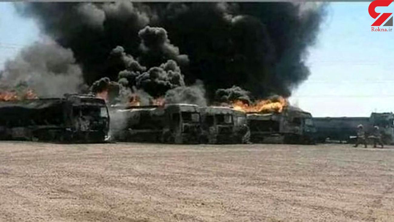 آتش به جان کامیون های ترانزیتی گمرک دوغارون افتاد