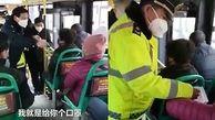درگیری یک زن با پلیس چین به خاطر ماسک ضد کرونا +فیلم