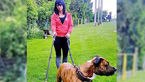 حمله وحشیانه سگ های شکاری به زن جوان در خیابان ! / او 3 ماه دیگر بچه به دنیا می آورد + عکس