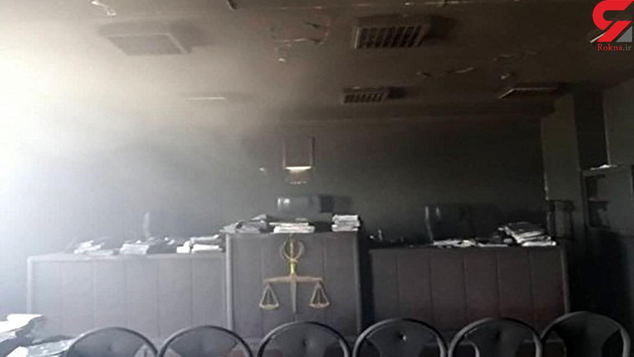 آتش سوزی در مجتمع قضایی شهید تندگویان خرمکوشک اهواز + عکس