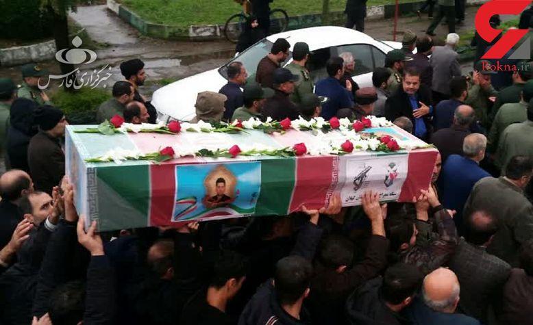 تشییع پیکر شهید مدافع امنیت در رشت / او در اعتراضات به شهادت رسید + عکس