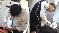 جوان تهرانی در چاله آسانسور گرفتار شد +عکس