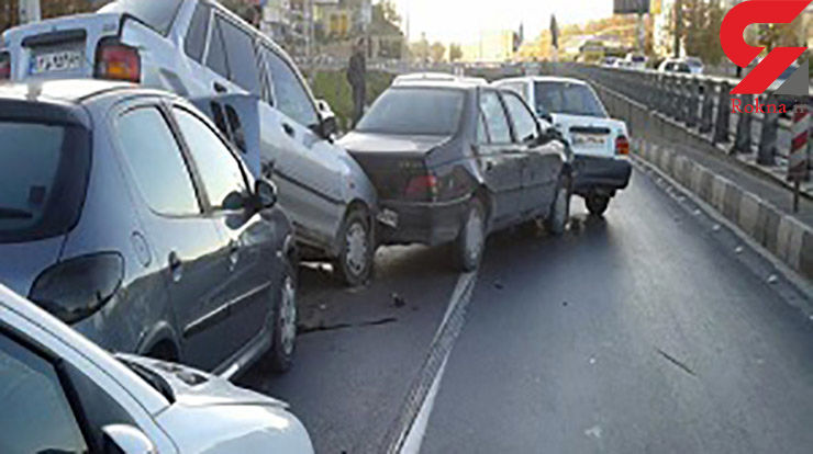 ۷ مصدوم در تصادف زنجیرهای اصفهان