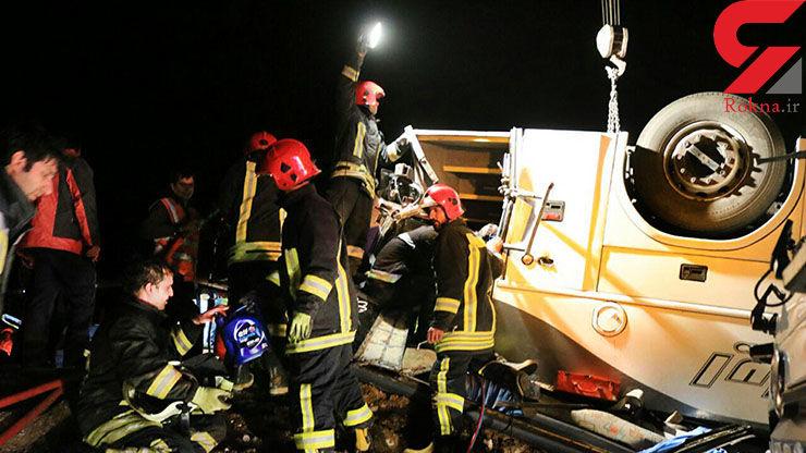 واژگونی خونین اتوبوس در جاده شیراز 12 زخمی داشت