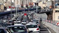 ترافیک سنگین در محور غرب به شرق بزرگراههای همت و حکیم