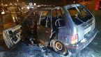 عکس های پراید و پژو آتش گرفته در تهران / شب گذشته رخ داد